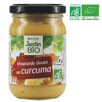 Moutarde JARDIN BIO Moutarde de curcuma bio - 210 g