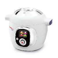 Multicuiseur Electrique CE705100 Multicuiseur Cookeo avec 50 recettes preprogrammees et couvercle de conservation - Blanc