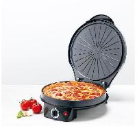 Multicuiseur Electrique KITCHENCOOK - HPP120 - Multicuiseur - Pizza - Tarte - Crepiere - Grill - Noir - Harper