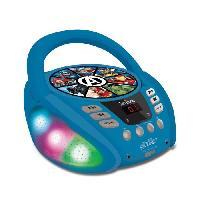 Multimedia Enfant AVENGERS - Lecteur CD Bluetooth - Effets Lumineux