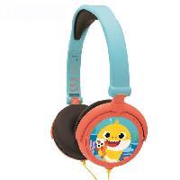 Multimedia Enfant BABY SHARK Casque stéréo filaire pliable pour enfants avec limitation de volume d'écoute - LEXIBOOK