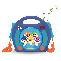 Multimedia Enfant BABY SHARK Lecteur CD portable avec 2 microphones - LEXIBOOK