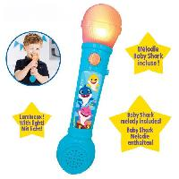 Multimedia Enfant BABY SHARK Microphone lumineux avec mélodies et effets sonores - LEXIBOOK