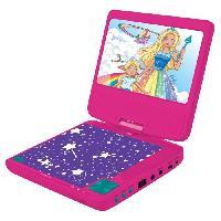 Multimedia Enfant BARBIE Lecteur DVD portable enfant écran LCD 7? LEXIBOOK - batterie rechargeable