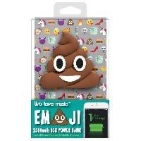 Multimedia Enfant Batterie externe Emoticon Poop
