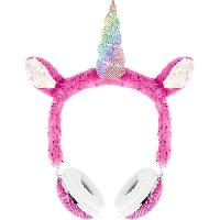 Multimedia Enfant DGL TOYS casque audio enfant Peluche Licorne - Rose
