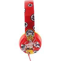 Multimedia Enfant DRAGON BALL Z Casque audio enfant Goku et Vegeta Kio - Rouge