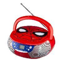 Multimedia Enfant SPIDERMAN Lecteur CD Boombox Enfant Rouge Spiderman