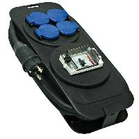 Multiprise BRENNENSTUHL Console multiprise avec différentiel 30mA 5m