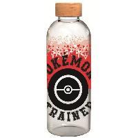 Multisport STOR - Pokemon - Bouteille Large - En Verre avec manchon Silicone - Réutilisable - 1030 ml