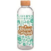 Multisport STOR Animal Crossing Bouteille Large - En verre avec manchon silicone - Réutilisable - 1030 ml