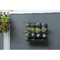 Mur Vegetal - Pot Pour Mur Vegetal - Kit Mur Vegetal Kit tableau floral en acier 60xH50cm - Noir