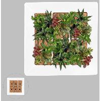 Mur Vegetal - Pot Pour Mur Vegetal - Kit Mur Vegetal Mur vegetal en metal 37x37cm - Blanc