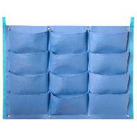 Mur Vegetal - Pot Pour Mur Vegetal - Kit Mur Vegetal Mur vegetal en tissu feutre -incl. attaches balcon- - bleu Provence. H62 x 82 cm