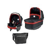 Nacelle Book Plus Nacelle + siege auto Primo Viaggio + kit auto + sac a langer - Groupe 0+ Noir mat et rouge