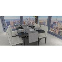 Nappe De Table Chemin de table - Galaxy - 40x180 cm - Gris