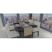 Nappe De Table Chemin de table - Galaxy - 40x180 cm - Taupe