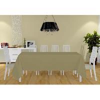 Nappe De Table Nappe Alix - 160x270 cm - Gris taupe