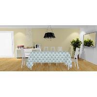 Nappe De Table Nappe Palmier - 140x240 cm - Bleu