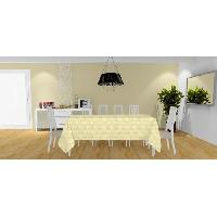 Nappe De Table Nappe Palmier - 140x240 cm - Jaune