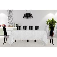 Nappe De Table Nappe anti-taches - Galaxy - 150x300 cm - Blanc