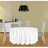 Nappe De Table Nappe anti-taches ronde - Alix - 300 cm - Blanc