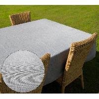Nappe De Table Nappe carre BELLA - 180x180cm - Polyester Gris