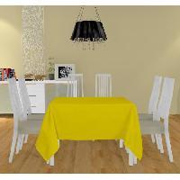 Nappe De Table Nappe carree Alix - 180x180 cm - Jaune