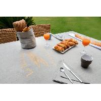Nappe De Table Nappe carree Baguette - 180x180 cm - Gris et or