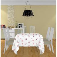 Nappe De Table Nappe carree Petale - 180x180 cm - Rose