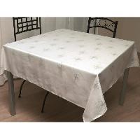 Nappe De Table Nappe de table carree Strass 180x180 cm blanc