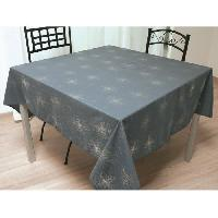 Nappe De Table Nappe de table carree Strass 180x180 cm gris