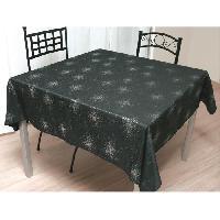 Nappe De Table Nappe de table carree Strass 180x180 cm noir