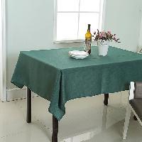 Nappe De Table Nappe de table decorative rectangulaire uni effet tisse - 140x240cm - 100 polyester Aucune