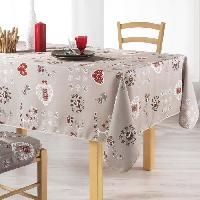 Nappe De Table Nappe imprimee Chouetti 150x240 cm lin