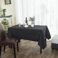 Nappe De Table Nappe rectangulaire 140x240 cm noir