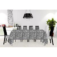 Nappe De Table SOLEIL D'OCRE Nappe anti-taches- Galaxy - 150x300 cm - Noir