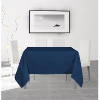 Nappe De Table SOLEIL D'OCRE Nappe anti-taches carree Alix - 140 x 140 cm - Bleu marine Soleil D Ocre