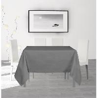 Nappe De Table SOLEIL D'OCRE Nappe anti-taches carree Alix - 140 x 140 cm - Gris Soleil D Ocre