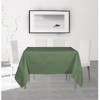 Nappe De Table SOLEIL D'OCRE Nappe anti-taches carree Alix - 140 x 140 cm - Vert Soleil D Ocre