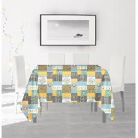 Nappe De Table SOLEIL D'OCRE Nappe anti-taches carree Karo - 180 x 180 cm Soleil D Ocre