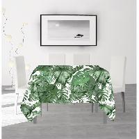 Nappe De Table SOLEIL D'OCRE Nappe anti-taches carree Noumea - 180 x 180 cm - Vert Soleil D Ocre