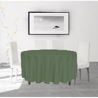 Nappe De Table SOLEIL D'OCRE Nappe anti-taches ronde Alix - O 180 cm - Vert Soleil D Ocre