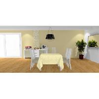Nappe De Table SOLEIL D'OCRE Nappe carree Palmier - 180x180 cm - Jaune