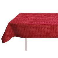 Nappe De Table SOLEIL D'OCRE Nappe toile ciree rectangulaire Polka 140x240 cm rouge