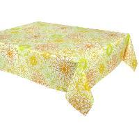 Nappe De Table VENT DU SUD Nappe enduite RIVIERA - 160 x 200 cm - Jaune safran