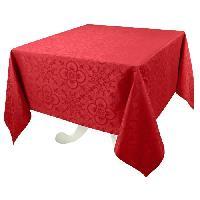 Nappe De Table VENT DU SUD Nappe jacquard FARO - 168x168 cm - Rouge rubis