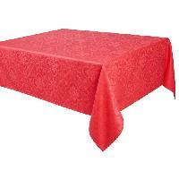 Nappe De Table VENT DU SUD Nappe jacquard FARO - 168x300 cm - Rouge vermeil