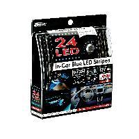 Neons & LEDs flexibles 1 Bande lumineuse Bleu a 24 Led - ADNAuto