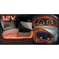Neons & lumieres 1 bande LED flexible - 15 LEDs - Rouge - BC Corona - ADNAuto
